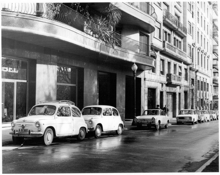 Calle de Fernando Agulló de Barcelona en 1969