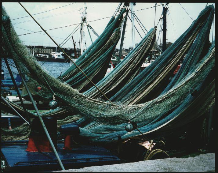 El moll del rellotge.Port de Barcelona, 1970