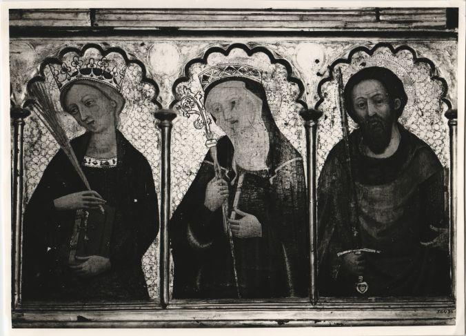 Detall Retaule Tots els Sants s.XIV S.Cugat