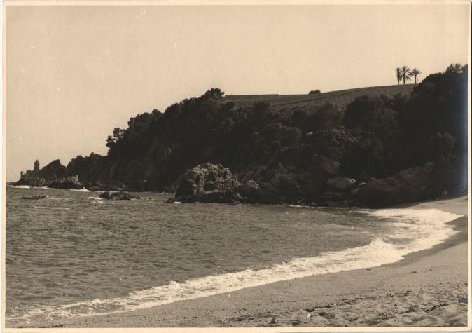 La playa de Santa Cristina en julio de 1952