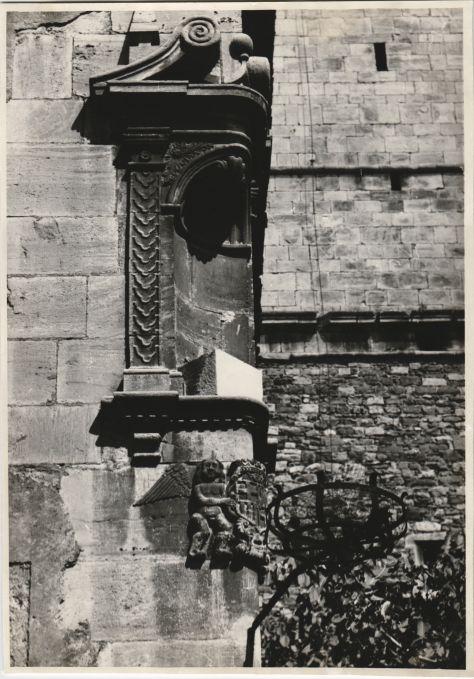 Santa María de Moià detail, 1952