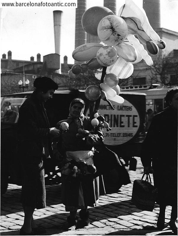 La venedora de globus, Barcelona