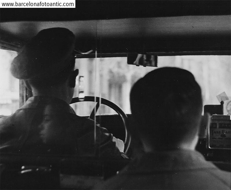 En un taxi de Barcelona en 1949