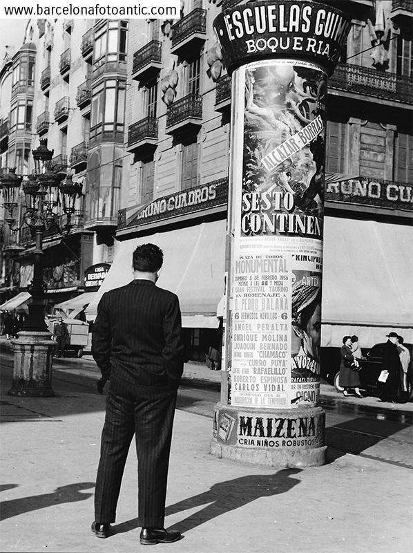 Las Ramblas image in 1956