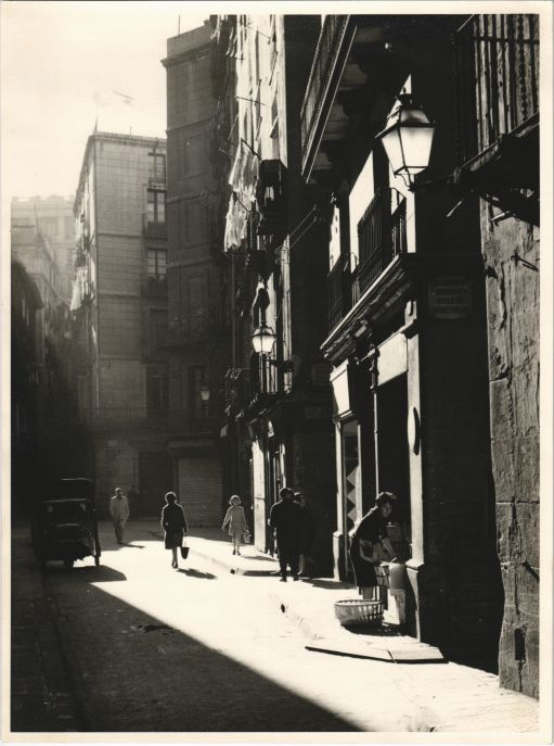 Banys vells Street in Barcelona