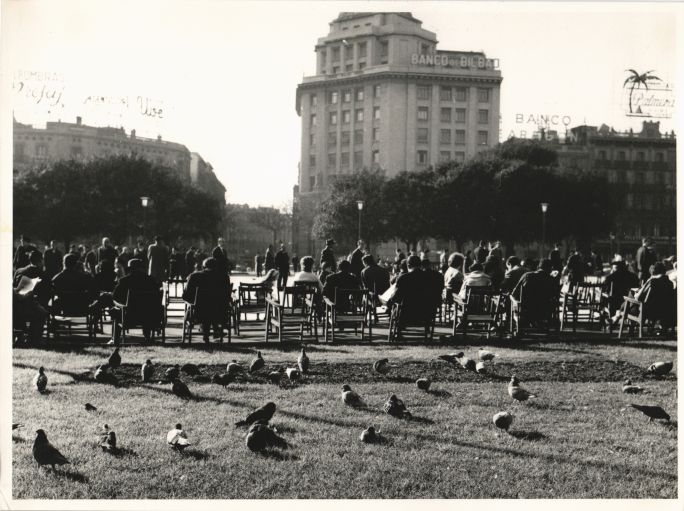Catalunya Square of Barcelona in 1961