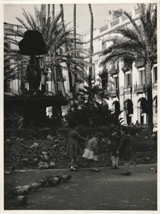 La Plaza Real de Barcelona en 1961