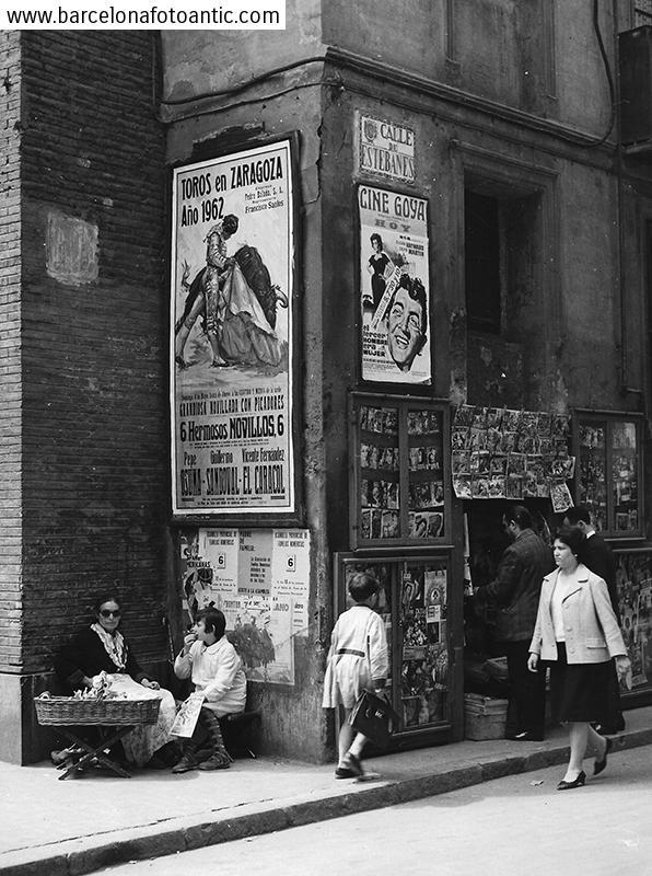 El carrer Estebanes a Saragossa al 1962