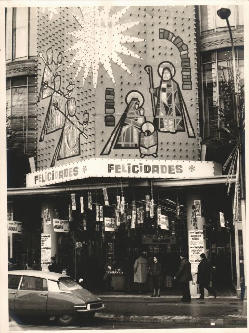 Christmas in Pelai Street of Barcelona