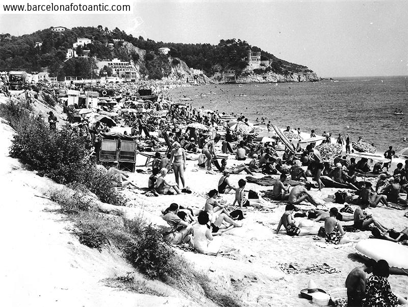 Lloret de Mar beach in 1966